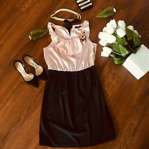 APT. 9 New pink top and black skirt attached Dress
